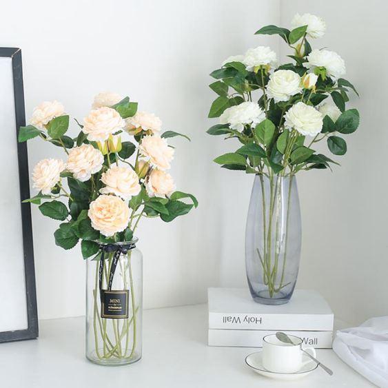 干花仿真玫瑰花套裝花束假花玫瑰花客廳餐桌擺件花藝插花干花擺設裝飾【快速出貨】 3