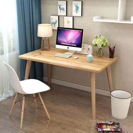 電腦桌 北歐電腦桌書桌簡易學習桌現代簡約寫字臺家用轉角兒童臺式寫字桌【快速出貨】 0