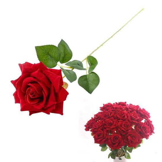 干花仿真玫瑰花套裝花束假花玫瑰花客廳餐桌擺件花藝插花干花擺設裝飾【快速出貨】 5