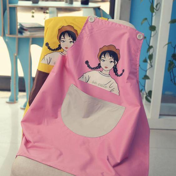 圍裙 創意個性防水防油家用圍裙廚房女時尚做飯大人工作服定制LOGO印字 2