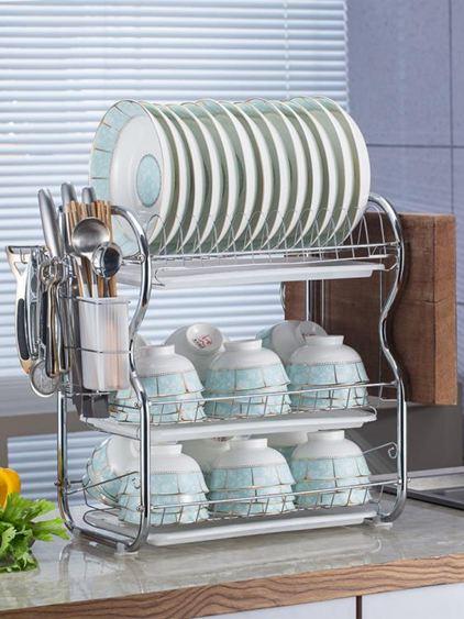 廚房置物架 用品用具晾洗放瀝水碗架碗柜碗碟碗筷盤刀收納盒餐具架 2