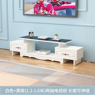 電視櫃 茶幾組合套裝簡約現代小戶型鋼化玻璃客廳實木色電視機地櫃【快速出貨】 1