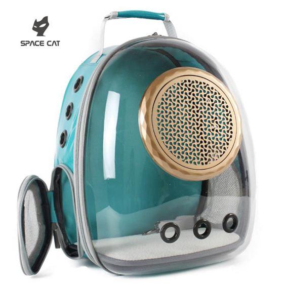寵物外出包 太空喵新款透明貓包寵物艙貓咪背包狗狗雙肩貓籠子貓書包外出便攜 1