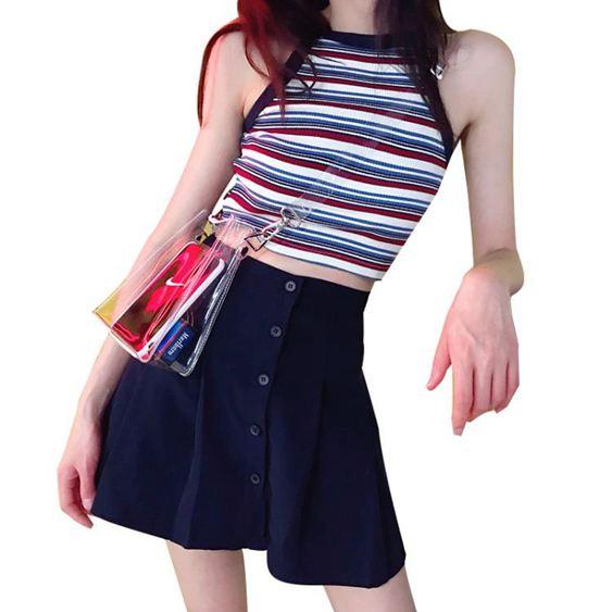 女士百褶裙夏顯瘦半身裙短裙百褶裙【快速出貨】 3