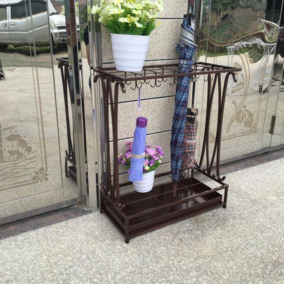 傘架 酒店 大堂家用創意雨傘桶鐵藝雨傘收納架掛傘放折疊傘架子 - 限時優惠好康折扣