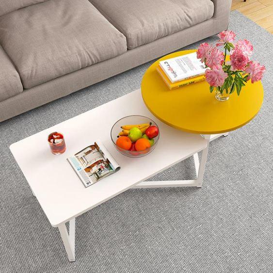 北歐茶幾創意迷你簡約現代小戶型矮桌子簡易客廳邊幾仿實木茶桌臺【快速出貨】 1