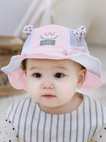 兒童帽 寶寶帽子夏季薄款防曬太陽帽男女兒童遮陽漁夫帽兒童涼帽大帽檐潮 2