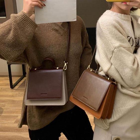 女士背包高級感小包包女包2019手提斜挎包百搭洋氣質感小黑包【快速出貨】 3