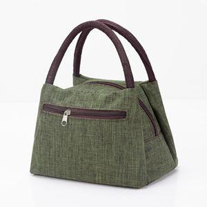 側背包 加厚防水牛津帆布便當包手提小花布包手拎小包飯盒袋女休閒包 3