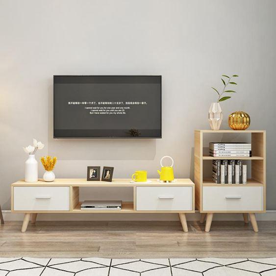 電視櫃 北歐電視櫃現代簡約 客廳組合茶幾電視櫃簡易家用小戶型 電視機櫃【快速出貨】 0