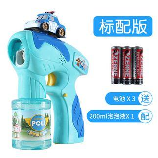 泡泡機 兒童泡泡機全自動不漏水玩具電動 吹泡泡槍泡泡水補充液 3