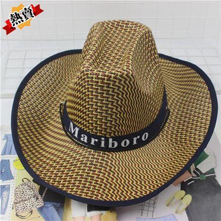 帽子 釣魚騎車男士牛仔帽度假夏沙灘大沿帽子女太陽防曬帽子男遮陽草帽 0
