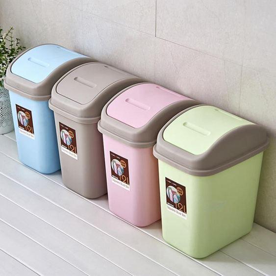 垃圾桶 垃圾筒帶蓋垃圾桶家用客廳臥室可愛廚房有蓋衛生間大小號廁所創意拉圾桶 0