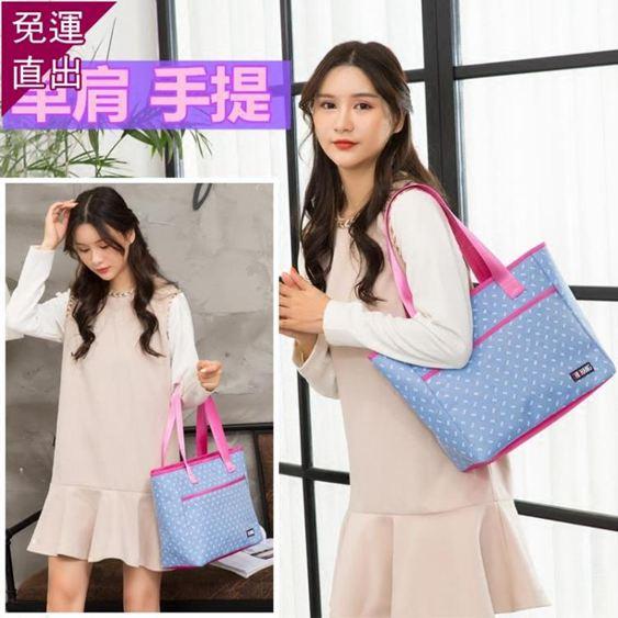 媽媽包 帆布包時尚袋子大容量布包百搭外出手拎女手提單肩媽媽大包購物袋 0