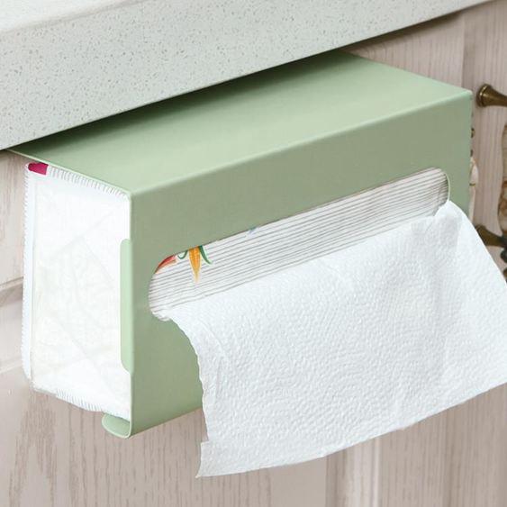 紙巾盒 廚房紙巾架免打孔鐵藝用紙架家用餐巾紙 3