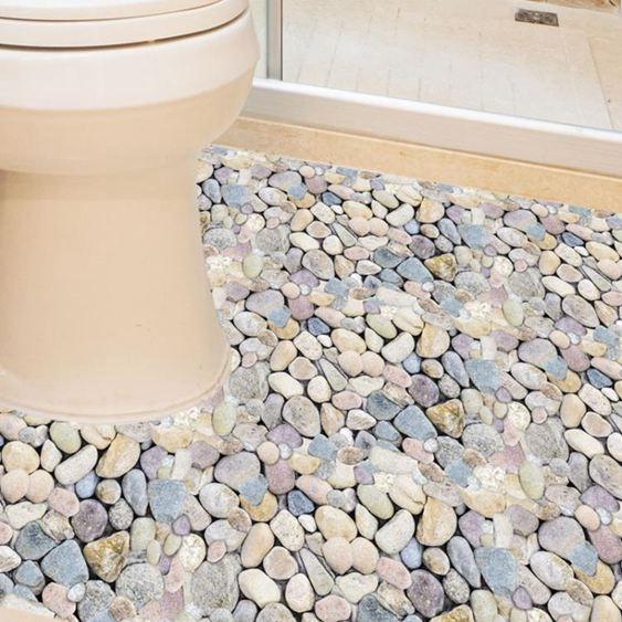 3D立體創意衛生間浴室地板地面瓷磚貼紙貼畫地貼自粘墻貼防水耐磨 0