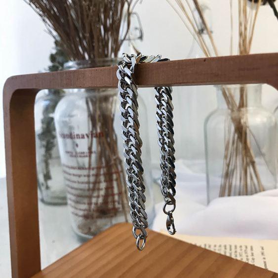 手環 韓版簡約情侶飾品手飾蛇骨鏈金屬鈦鋼手鏈 男女 2