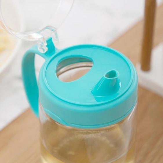油壺 茶花油壺 防漏玻璃油壺廚房家用塑料油罐醬油瓶醋壺大號小號油瓶 2
