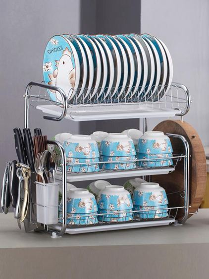 廚房置物架 用品用具晾洗放瀝水碗架碗柜碗碟碗筷盤刀收納盒餐具架 0