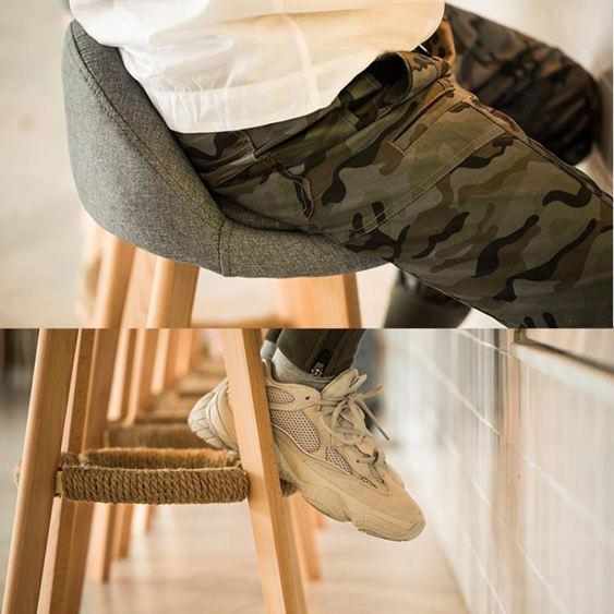 實木吧臺椅子歐式酒吧椅復古旋轉高腳凳創意現代簡約靠背吧臺凳子【快速出貨】 3