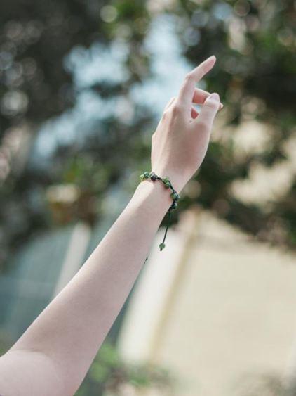 手環 古風招桃花轉運紅繩森系紅瑪瑙手鏈女簡約學生小眾設計冷淡防小人 1