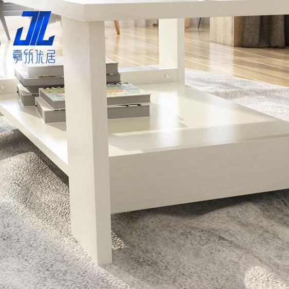 茶幾簡約現代客廳邊幾家具儲物簡易茶幾雙層木質小茶幾小戶型桌子【快速出貨】 5