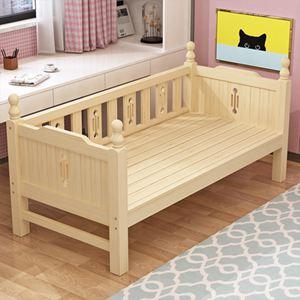 實木兒童床兒童床拼接大床帶男孩單人床女孩公主床寶寶加寬小床【快速出貨】 0