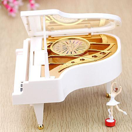 音樂盒 天空之城鋼琴音樂盒八音盒送女友兒童生日禮物女生母親父親節禮品 2