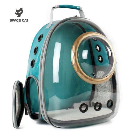 寵物外出包 太空喵新款透明貓包寵物艙貓咪背包狗狗雙肩貓籠子貓書包外出便攜 0