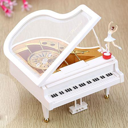 音樂盒 天空之城鋼琴音樂盒八音盒送女友兒童生日禮物女生母親父親節禮品 0