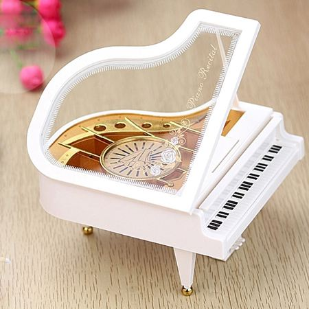 音樂盒 天空之城鋼琴音樂盒八音盒送女友兒童生日禮物女生母親父親節禮品 1