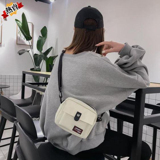 帆布包 ins超火帆布小包包女2019新款潮港風蹦迪包chic斜挎包小黑包 3