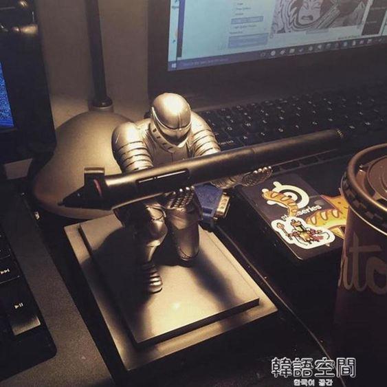 騎士筆架盔甲英雄筆架文具創意桌面擺件生日畢業禮物送男生禮物 韓語空間 1