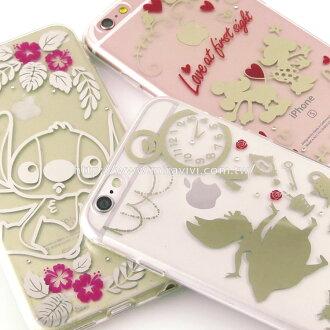 【Disney 】iPhone 6 Plus/6s Plus 時尚質感電鍍系列彩繪保護套