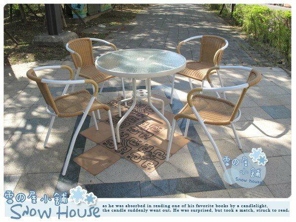 ╭~雪之屋小舖~╯~ 風暴~庭園休閒桌椅 戶外摩登椅A級品~一桌四椅