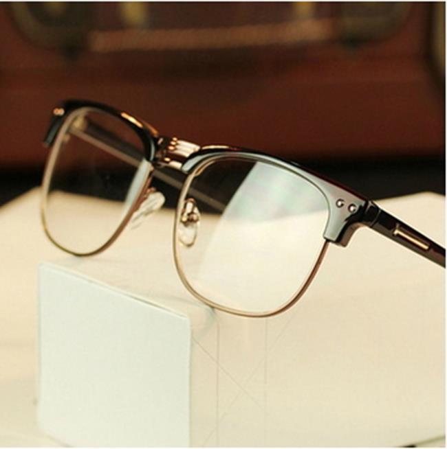 50%OFF SHOP~J011445Gls~ 潮人金屬半框眼鏡框2190 復古眼鏡架 雙