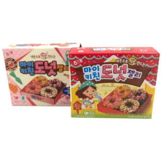 有樂町進口食品 韓國進口 【HAITAI 海太】DIY甜甜圈造型軟糖(35.5g/盒) 8801019007408