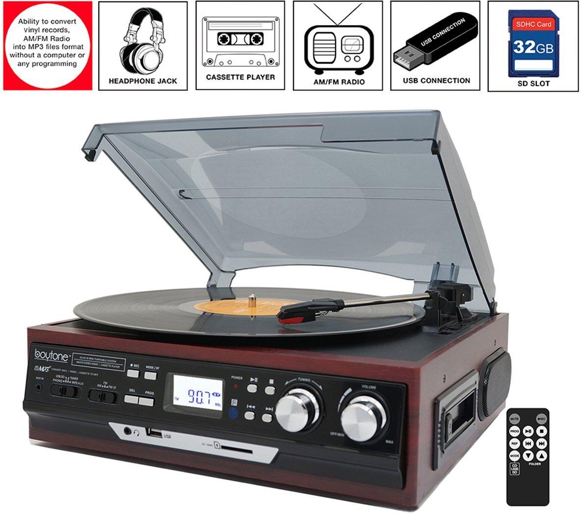 Electronic Palace: Boytone BT-17DJM-C 3-speed Stereo Turntable, 2 ...