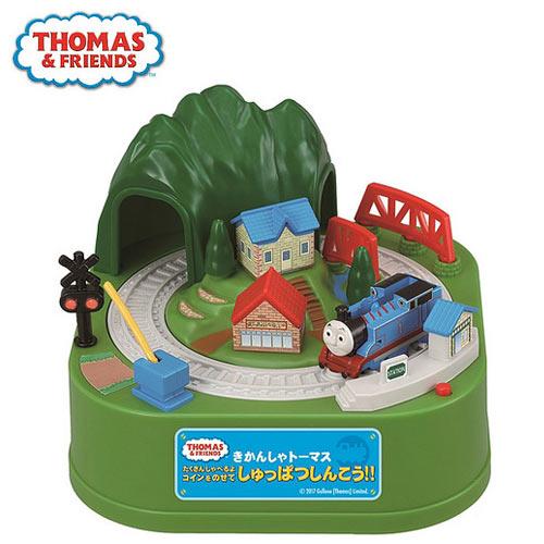 【日本進口】THOMAS 湯瑪士小火車 火車存錢筒 存錢筒 電動存錢筒 小費箱 SHINE - 376589