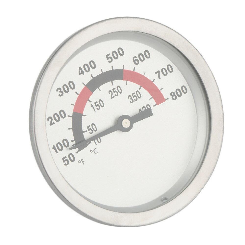 『雙金屬溫度計』廚房用品、烤肉控溫、不銹鋼、可調式、固定、圓形燒烤溫度計、60mm