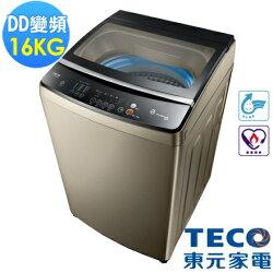 【福利品 TECO東元】16公斤DD變頻直驅洗衣機(W1688XG 古典金)