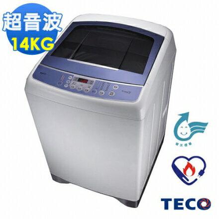 TECO東元14公斤靜音變頻超音波洗衣機(W1491XW)