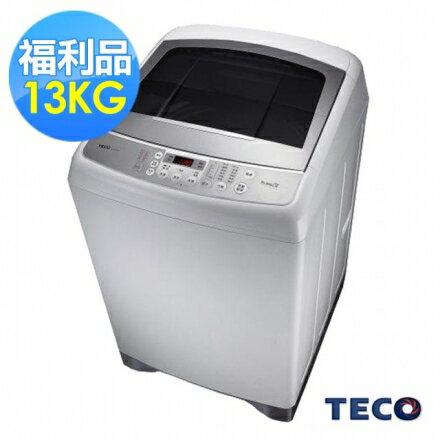 【福利品】TECO東元13公斤靜音變頻超音波洗衣機(W1391XW)