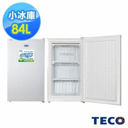 【TECO東元】84公升單門直立式冷凍櫃(RL84SW珍珠白)