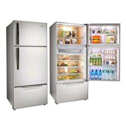 【福利品 TECO東元】600公升變頻三門冰箱 琉璃金(R6061VXK)