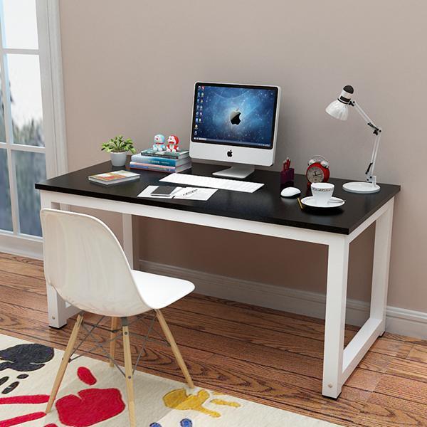 【免運】簡易電腦桌 臺式桌 家用寫字臺書桌簡約現代鋼木辦公桌子雙人桌  快速出貨  喜迎新春 全館8.5折起