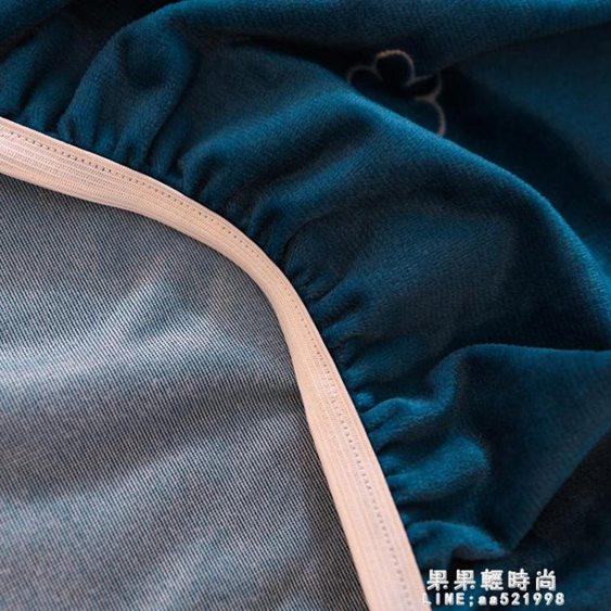【免運】定做床笠水晶絨單件珊瑚絨兒童床套保暖法蘭絨90/1/135棕墊保護套 喜迎新春 全館8.5折起