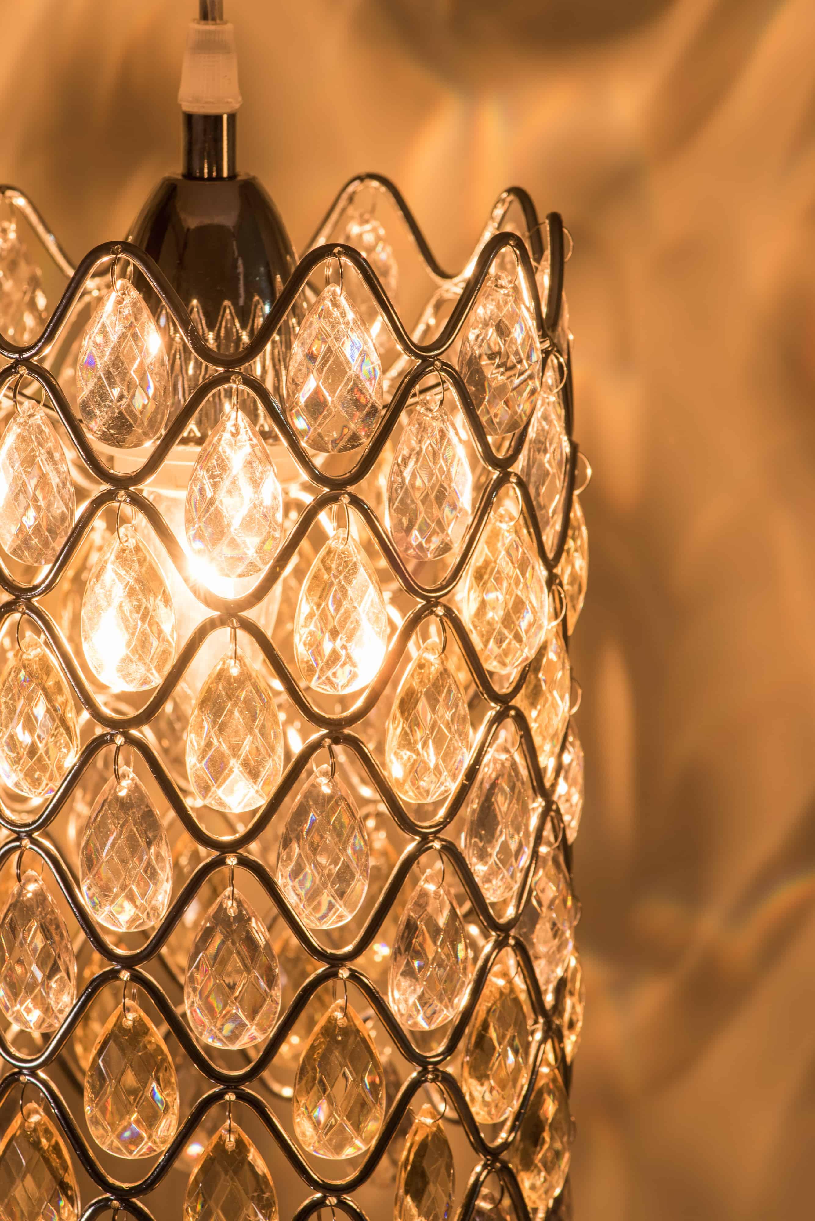 鍍鉻波浪紋壓克力珠吊燈-BNL00051 6