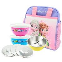 寶石牌316不銹鋼豆豆兒童碗雙蓋隔熱碗便當袋四件組塑蓋+鋼蓋幼稚園碗三色碗