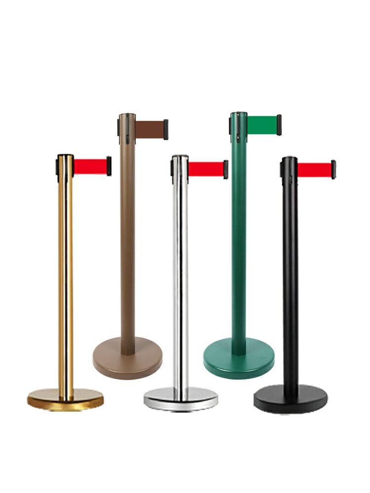 護欄桿 一米線欄桿隔離帶伸縮帶警戒線加厚不銹鋼迎賓柱銀行排隊護欄圍欄【MJ7794】